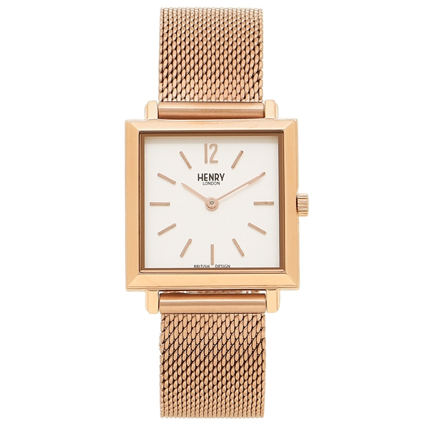 HENRY LONDON 腕時計 レディース ヘンリーロンドン HL26-QM-0264 ピンクゴールド アイボリー