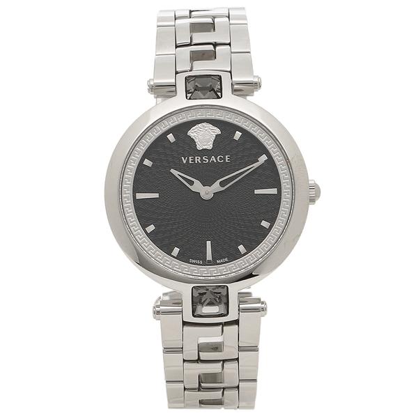 VERSACE 腕時計 レディース ヴェルサーチ VAN030016 ブラック シルバー