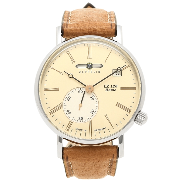 ZEPPELIN 腕時計 メンズ ツェッペリン 7135-5 アイボリー ブラウン