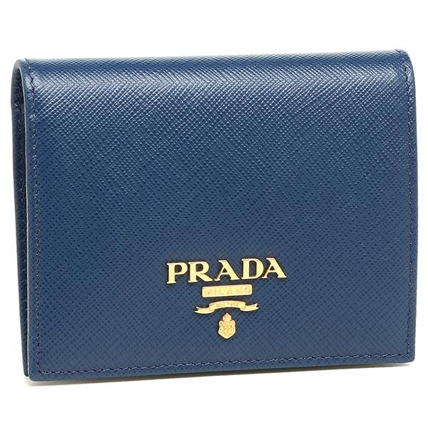 PRADA 折財布 レディース プラダ 1MV204 QWA F0016 ブルー