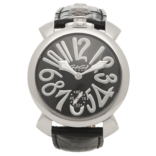 GAGA MILANO 腕時計 メンズ ガガミラノ 5010.04S-BLK-NEW ブラック シルバー