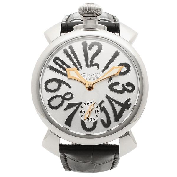 GAGA MILANO 腕時計 メンズ ガガミラノ 5010.07S-BLK-NEW シルバー ブラック