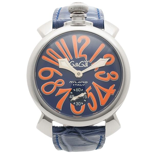 GAGA MILANO 腕時計 メンズ ガガミラノ 5010.08S-BLU ブルー マルチカラー シルバー