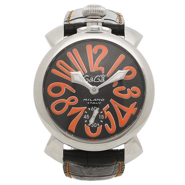 GAGA MILANO 腕時計 メンズ ガガミラノ 5010.11S-BLK ブラック シルバー レッド