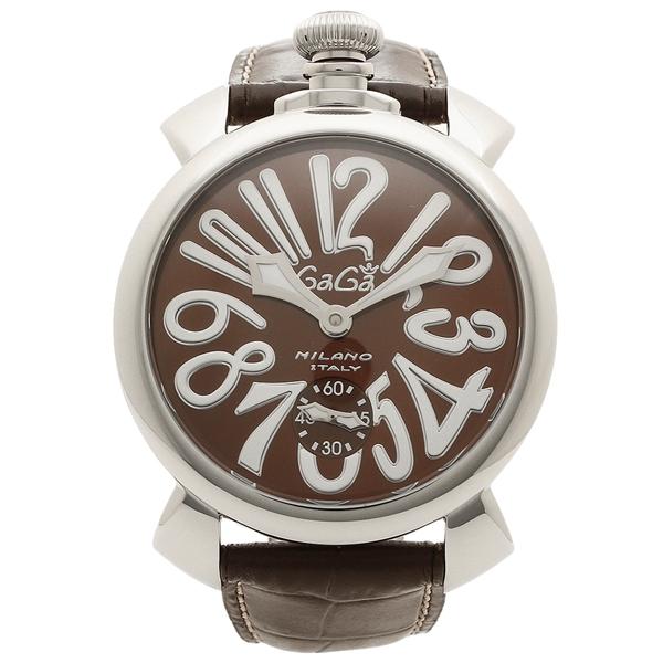 GAGA MILANO 腕時計 メンズ ガガミラノ 5010.13S-DBR ブラウン シルバー