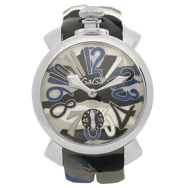 GAGA MILANO 腕時計 メンズ ガガミラノ 5010.15S ブルーカモフラージュ