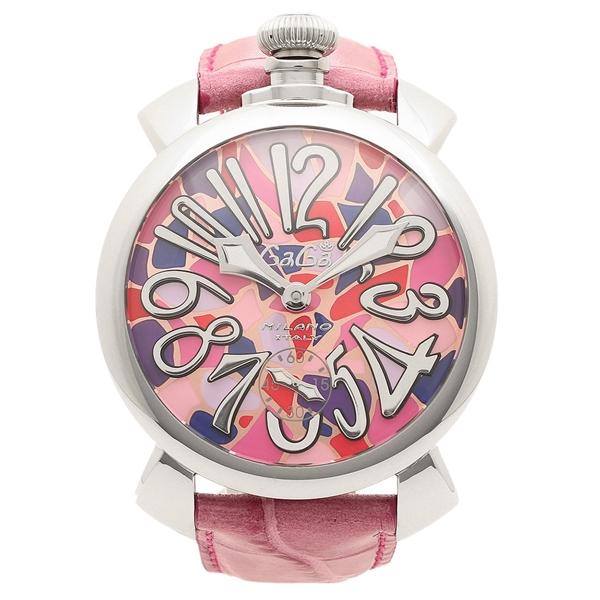 GAGA MILANO 腕時計 メンズ ガガミラノ 5010MOSACO2S モザイクマルチカラー ピンク シルバー