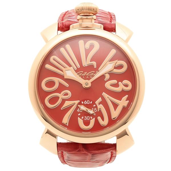 GAGA MILANO 腕時計 メンズ ガガミラノ 5011.13S-RED レッド ピンクゴールド