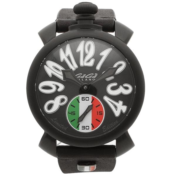 GAGA MILANO 腕時計 メンズ ガガミラノ 5012LEIT02 ブラック トリコロール