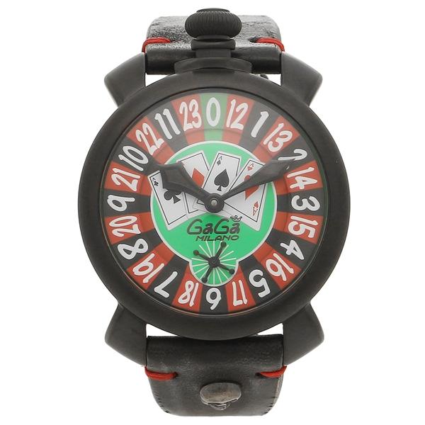 GAGA MILANO 腕時計 メンズ ガガミラノ 5012.LV01BLK グリーン ブラック マルチカラー