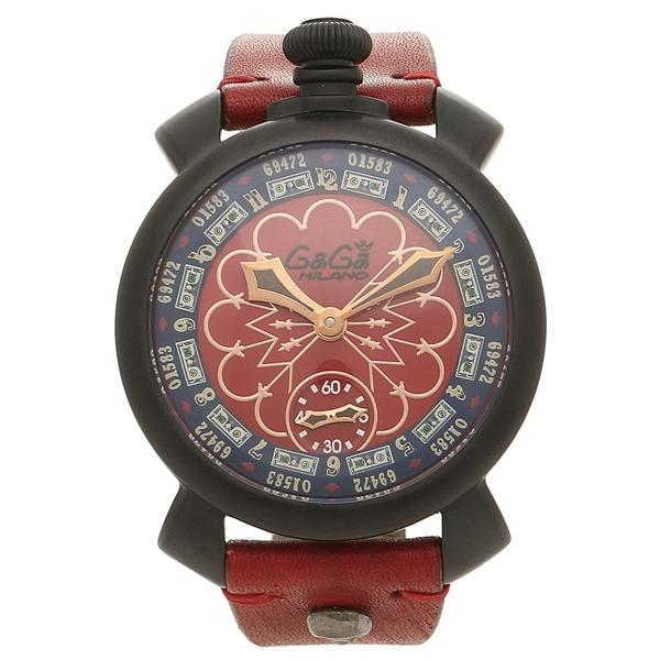 GAGA MILANO 腕時計 メンズ ガガミラノ 5012LV02-RED レッド ブラック