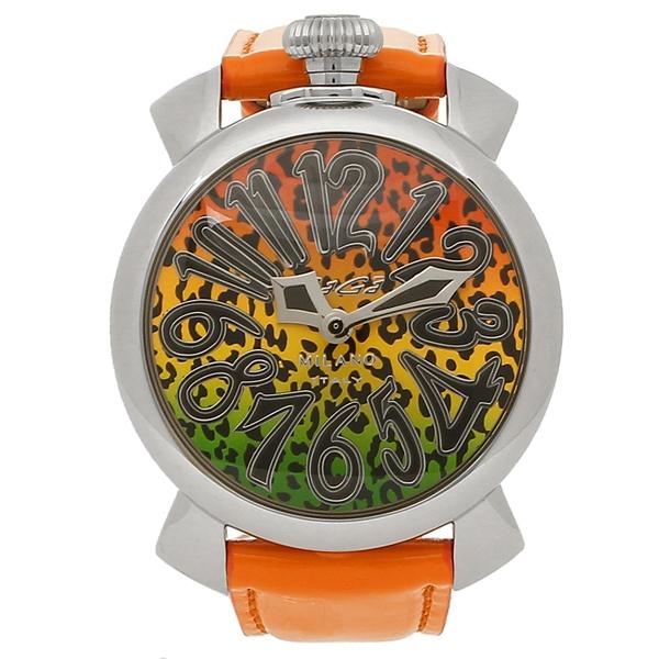 GAGA MILANO 腕時計 メンズ レディース ガガミラノ 5020ART01-ORG マルチカラー オレンジ シルバー