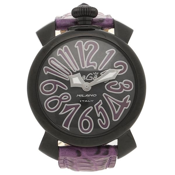 GAGA MILANO 腕時計 メンズ レディース ガガミラノ 5022.2-PUR ブラック パープル