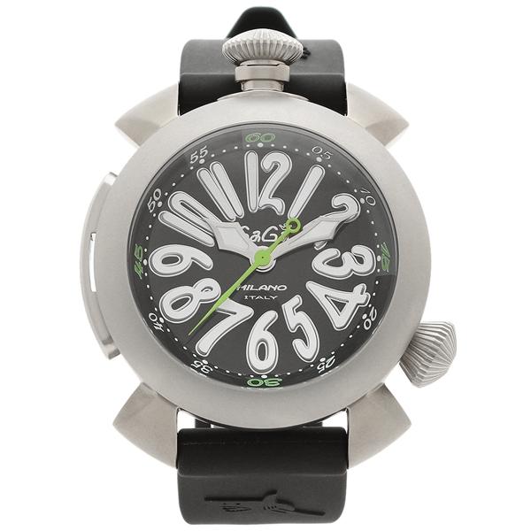 GAGA MILANO 腕時計 メンズ ガガミラノ 5040.1-BLKRUBBER シルバー ブラック