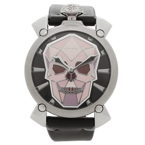GAGA MILANO 腕時計 メンズ ガガミラノ 5060.01S-BLK マルチカラー シルバー ブラック