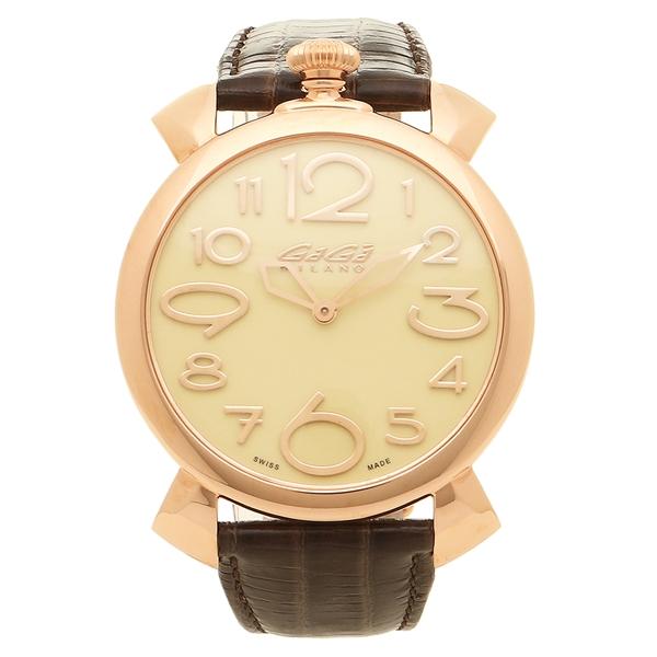 GAGA MILANO 腕時計 メンズ ガガミラノ 5091.05-DBR-N イエローゴールド ダークブラウン