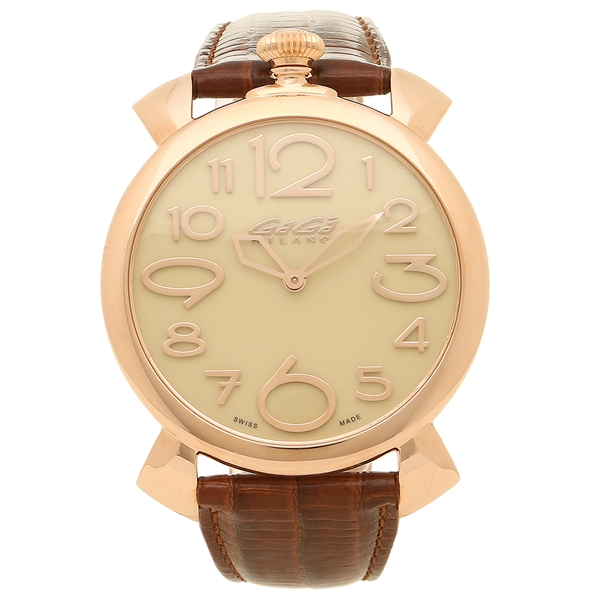 GAGA MILANO 腕時計 メンズ ガガミラノ 5091.05-N ピンクゴールド ブラウン