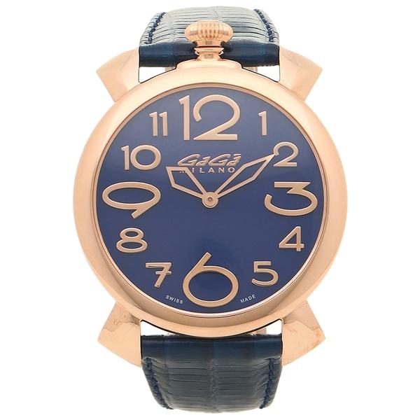 GAGA MILANO 腕時計 メンズ ガガミラノ 5091.07-N ブルー ピンクゴールド