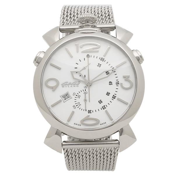 GAGA MILANO 腕時計 メンズ ガガミラノ 5097.02BR ホワイト シルバー
