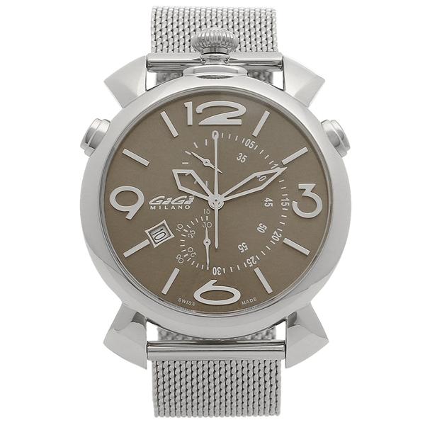GAGA MILANO 腕時計 メンズ ガガミラノ 5097.03BR-B ブラウン シルバー