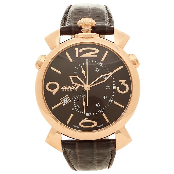 GAGA MILANO 腕時計 メンズ ガガミラノ 5098.03BW-NEW-N ブラウン ピンクゴールド