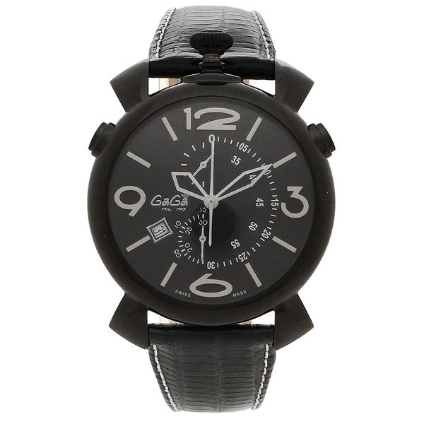 GAGA MILANO 腕時計 メンズ ガガミラノ 5099.01BK-N-ST ブラック ホワイト