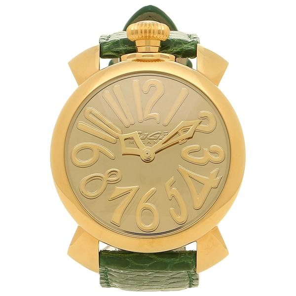 GAGA MILANO 腕時計 メンズ レディース ガガミラノ 5223MIR01 イエローゴールド グリーン