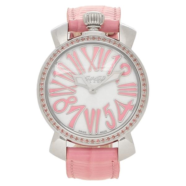 GAGA MILANO 腕時計 メンズ レディース ガガミラノ 6025.02 ホワイトパール ピンク シルバー