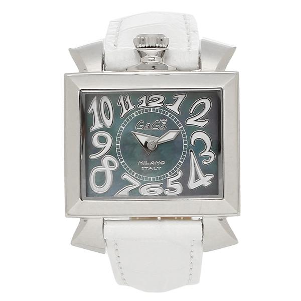 GAGA MILANO 腕時計 レディース ガガミラノ 6030.4 ブラックパール ホワイト シルバー