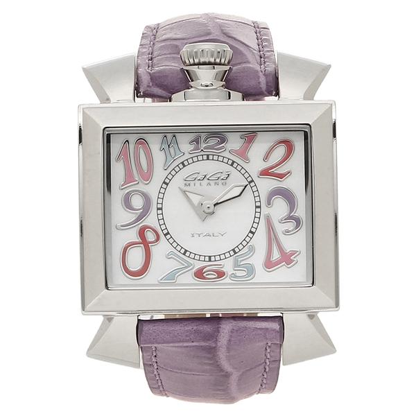 GAGA MILANO 腕時計 レディース ガガミラノ 6030.7-NEW ホワイトパール パープル シルバー