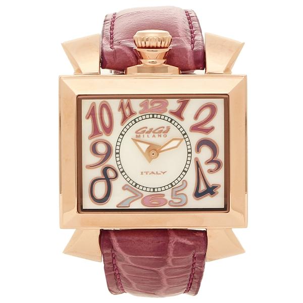 GAGA MILANO 腕時計 レディース ガガミラノ 6031.1-NEW ホワイトパール パープル ローズゴールド