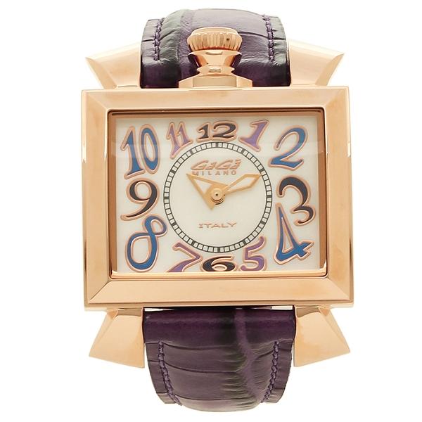 GAGA MILANO 腕時計 レディース ガガミラノ 6031.4-PUP-NEW ホワイトパール パープル ローズゴールド