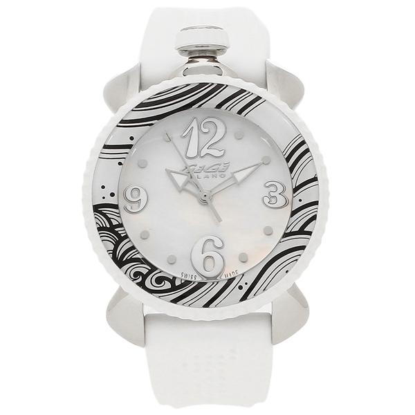GAGA MILANO 腕時計 レディース ガガミラノ 7020.01 ホワイトパール シルバー ホワイト