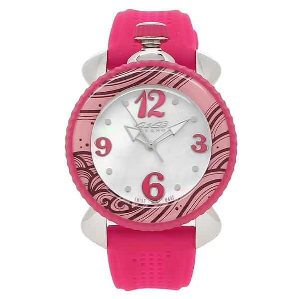GAGA MILANO 腕時計 レディース ガガミラノ 7020.06 ホワイトパール ピンク シルバー