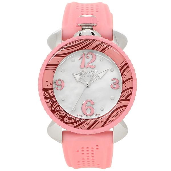 cb76c1a611 GAGA MILANO 腕時計 レディース ガガミラノ 7020.09 ホワイトパール ピンク シルバー