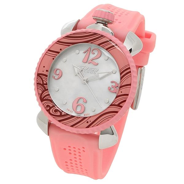 2886b80f94 シルバー ピンク ホワイトパール 7020.09 ガガミラノ レディース 腕時計 MILANO GAGA-レディース腕時計