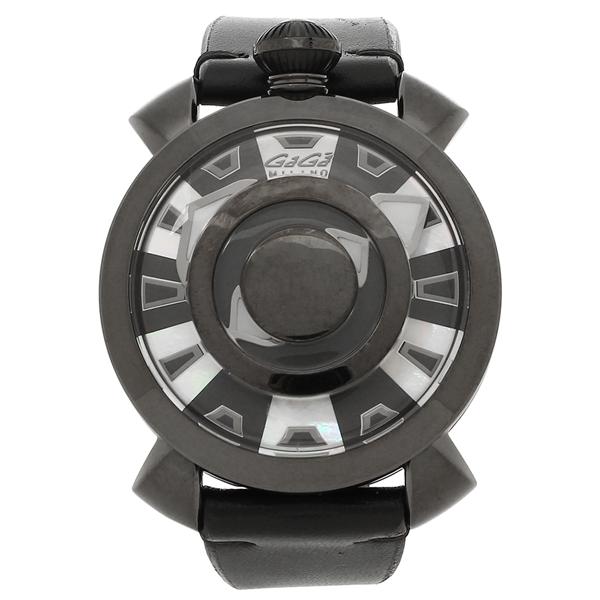 GAGA MILANO 腕時計 メンズ ガガミラノ 9094.01 ブラック ホワイト