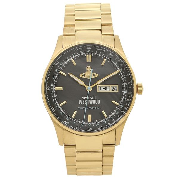 VIVIENNE WESTWOOD 腕時計 メンズ ヴィヴィアンウエストウッド VV207BKGD イエローゴールド ブラック