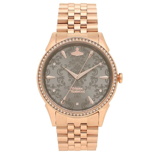 VIVIENNE WESTWOOD 腕時計レディース ヴィヴィアンウエストウッド VV208RSRS ローズゴールド グレー