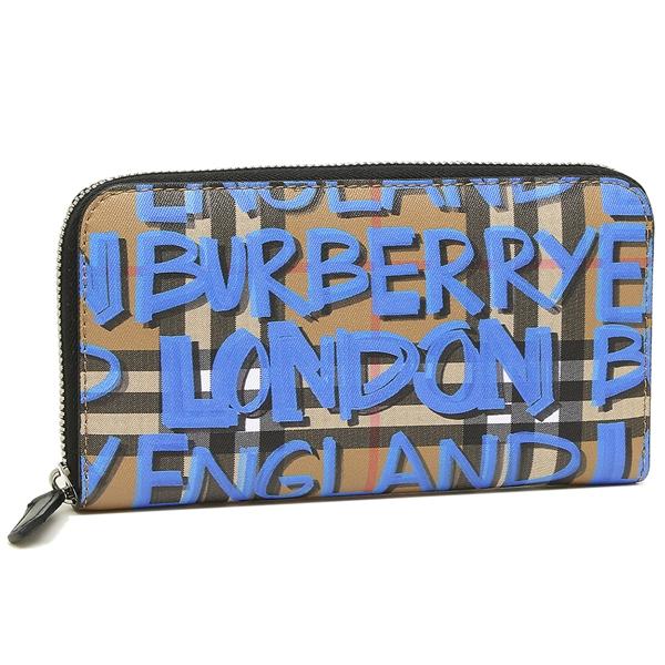 BURBERRY 長財布 メンズ バーバリー 4073924 4064P ブルー ベージュ