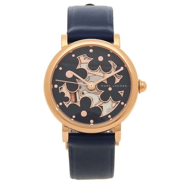 MARC JACOBS 腕時計 レディース マークジェイコブス MJ1628 ネイビーブルー ローズゴールド