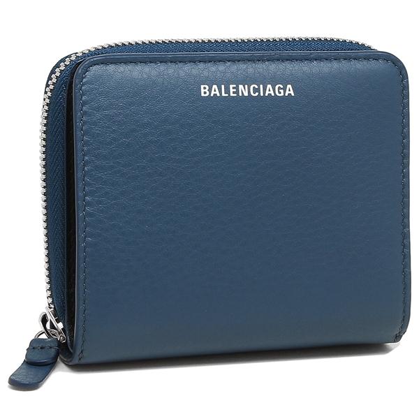 BALENCIAGA 折財布 レディース バレンシアガ 516366 DLQ0N 4205 ネイビー
