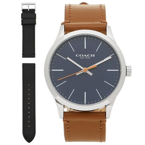 COACH 腕時計 アウトレット メンズ コーチ W1583 L38 ネイビー ブラウン