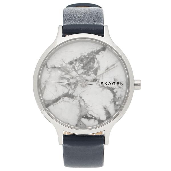 SKAGEN 腕時計 レディース スカーゲン SKW2719 ネイビーブルー ホワイト