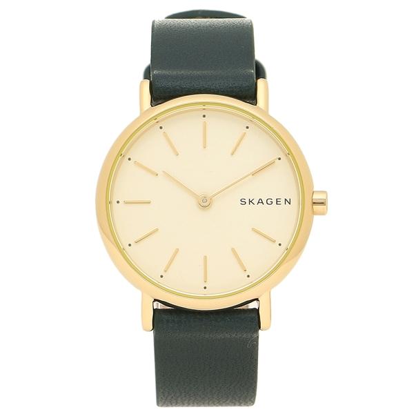 SKAGEN 腕時計 レディース スカーゲン SKW2727 イエローゴールド グリーン