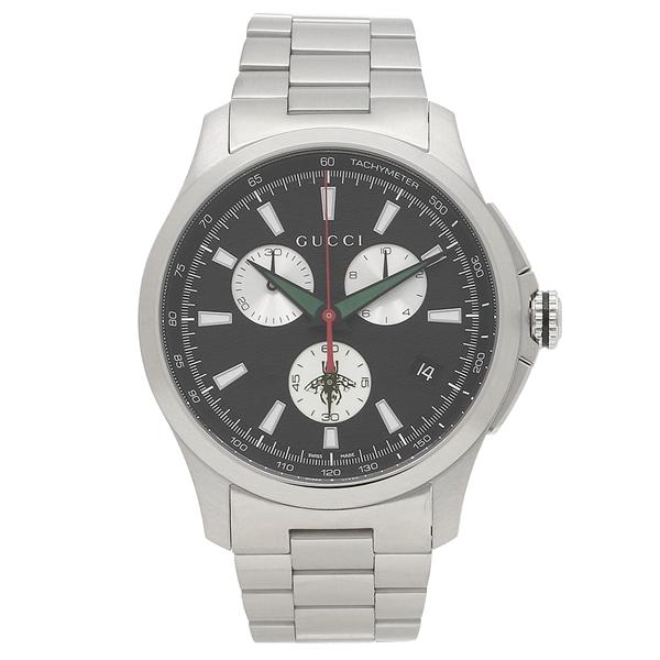 GUCCI 腕時計 メンズ グッチ YA126267 シルバー ブラック