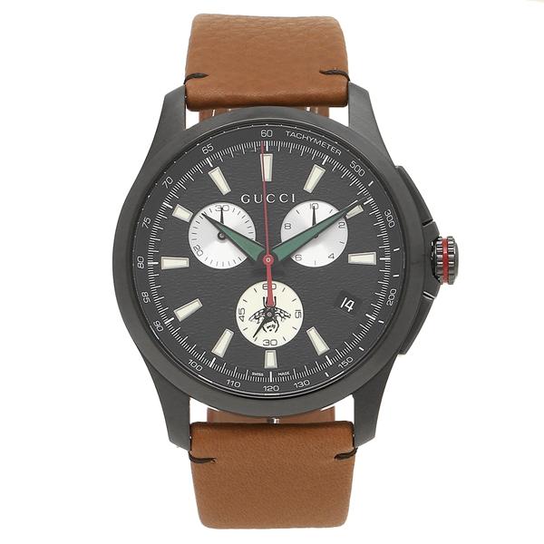 GUCCI 腕時計 メンズ グッチ YA126271 ブラウン ブラック