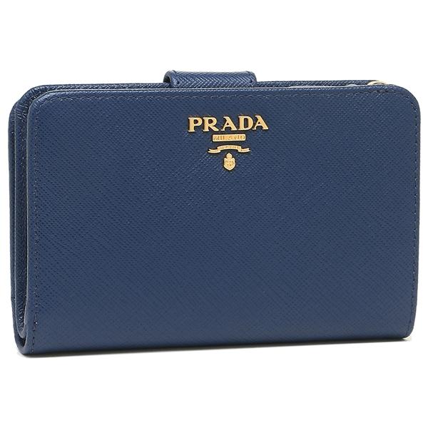 PRADA 折財布 レディース プラダ 1ML225 QWA F0016 ブルー