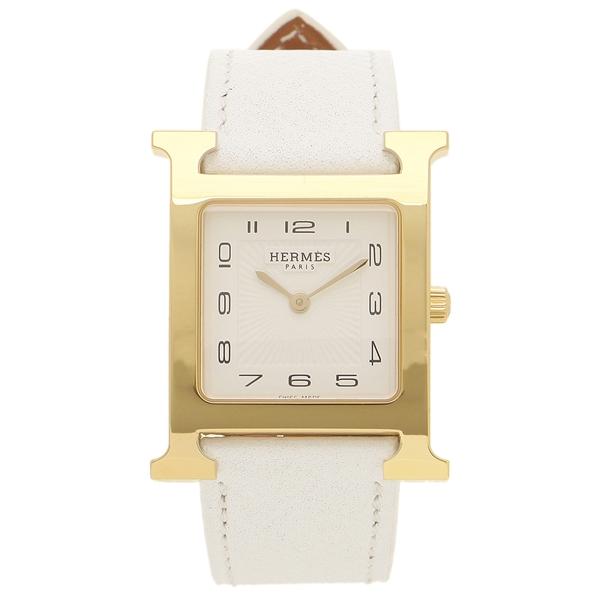 HERMES 腕時計 レディース エルメス HH1.501.131/UBC W036781WW00 ホワイト イエローゴールド
