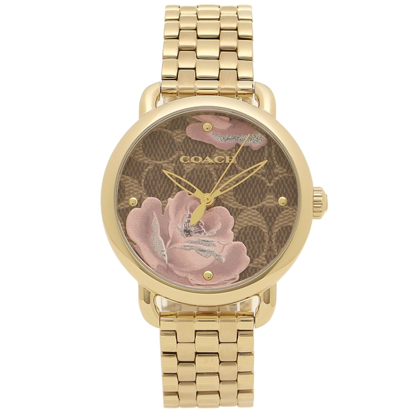COACH 腕時計 レディース コーチ 14503164 イエローゴールド レッドブラウン